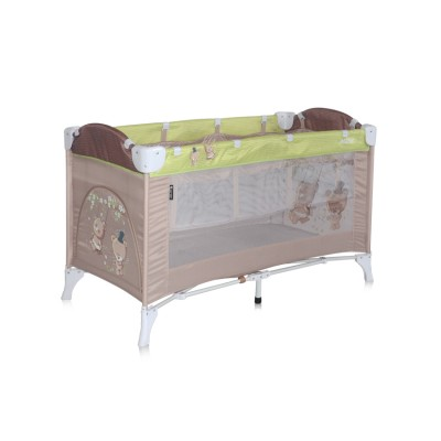 Baby Cot ARENA 2 Layers Beige&Green Bears