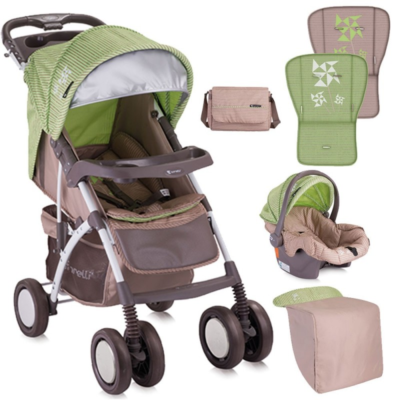 Bertoni Rio Set 2 In 1 Travel System   Green Beige